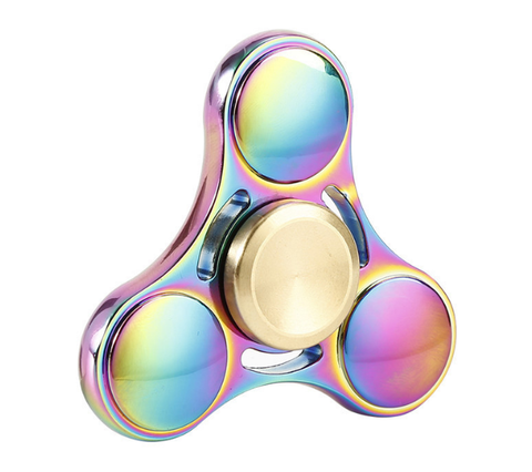Neo Chrome Tri Gold Fidget Spinner