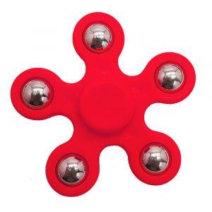 5-Balls-Flower-Shaped-Fidget-Spinner---Red