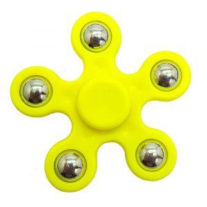 5-Balls-Flower-Shaped-Fidget-Spinner---Yellow