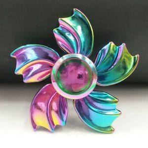 5-Leaf-Sun-Flower-Fidget-Spinner---Neo-Chrome