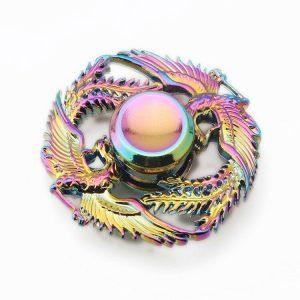 Alloy-Two-Loving-phoenix-Fidget-Spinner---Neo-Chrome