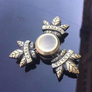 Antique-Canada-Maple-Fidget-Spinner---Brass