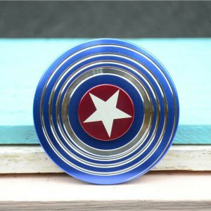 Disc-Hero-Captain-America-Fidget-Spinner---Blue