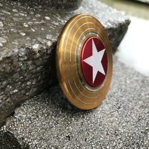 Disc-Hero-Captain-America-Fidget-Spinner---Gold