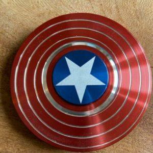 Disc-Hero-Captain-America-Fidget-Spinner---Red-White-Blue