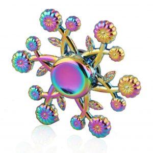 Pumpkin-Cushaw-Flower-Fidget-Spinner---Neo-Chrome