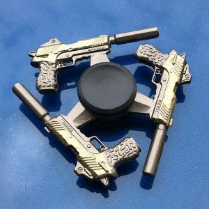 3-Muffler-Pistol-Fidget-Spinner---Black