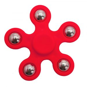 5-Balls-Flower-Shaped-Fidget-Spinner---Red