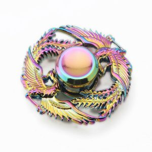 Alloy-Two-Loving-phoenix-Fidget-Spinner---Neo-Chrome