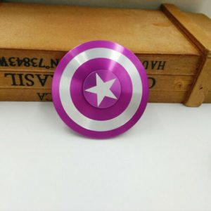Disc-Hero-Captain-America-Fidget-Spinner---Purple