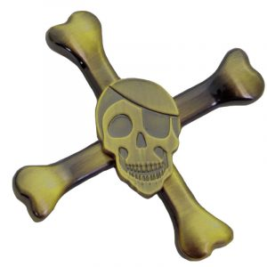 Skull-Fidget-Spinner---Dirty-Gold