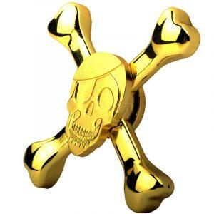 Skull-Fidget-Spinner---Gold